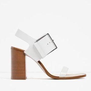 Zara Block High Heel With Buckle